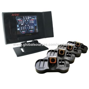 Taiwan Quality tire pressure TPMS with butterfly color LCD display and internal sensor for passenger car