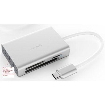 China Mini Aluminum Type-c USB 3.0 Card Reader, SGS Inspection