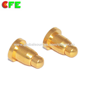 China SMT & SMD spring loaded gold-plated pin on PCB