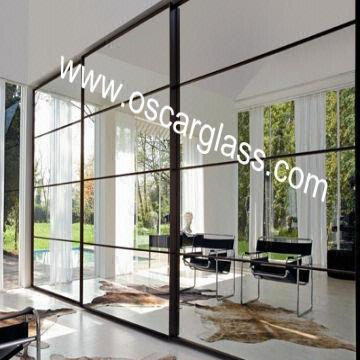 Wardrobe Decorative Mirror Partition Glass Sliding Mirror
