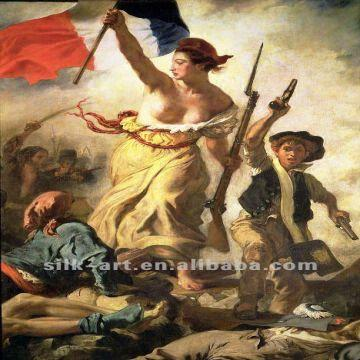 oil painting of freedom lead the people french famous oil painting