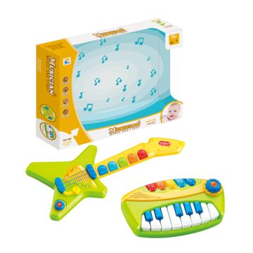 Baby Musical Instruments Toy Bass Guitar And Piano Keyboard Global