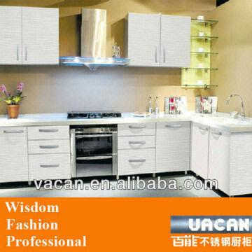 Modular Fiber Kitchen Cabinet With White Melamine Kitchen Cabinet
