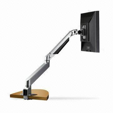 Flat Panel Dual Arm Desk Mount with Smooth Extension to Achieve