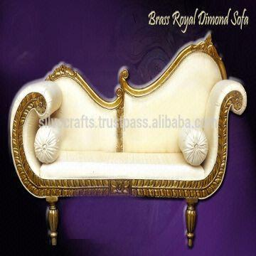 India Wedding Stage Sofa Set Chairs For Bride Groom From Clic Silvocrafts Indian