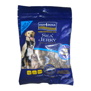 China Sea food jerky dog treat packaging with oxygen barrier