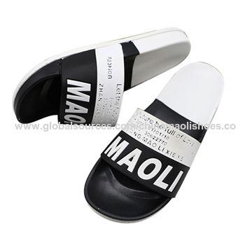 cdcb1184c84 custom printed men slide sandals China custom printed men slide sandals