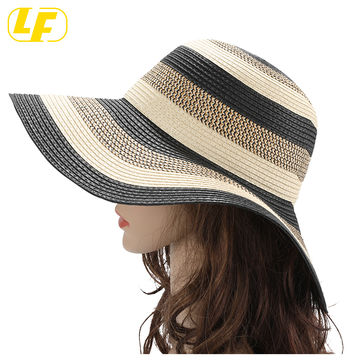 Womens Cowboy Fedora Straw Sun Hat Mens Roll Up Wide Brim Summer Sunshade Hat