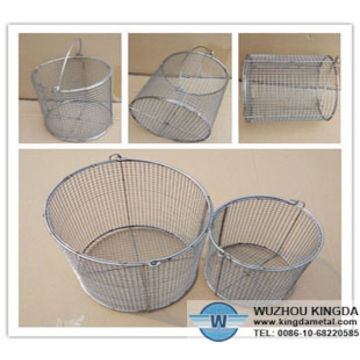 Round stainless steel wire mesh baskets | Global Sources
