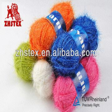 1 product-- eyelash yarn 2 count-- 1/2 5NM 3 composition