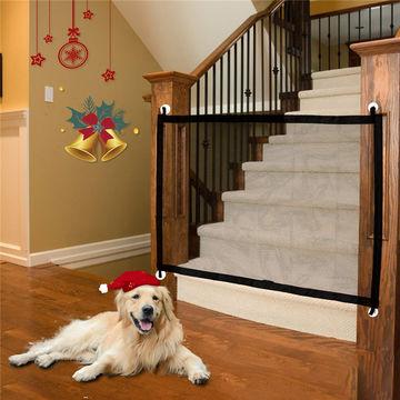 Magic Pet Gate Mesh Retractable Dog, Outdoor Pet Gate With Door