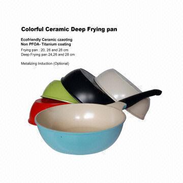 south korea ceramic deep frying pan