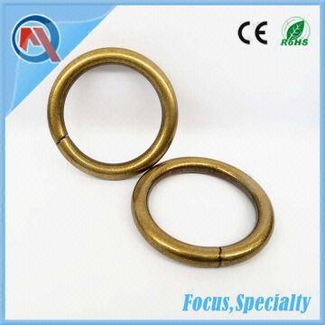 1 1/2 Inch Large Custom Metal Open Split O-Ring For Bag | Global Sources