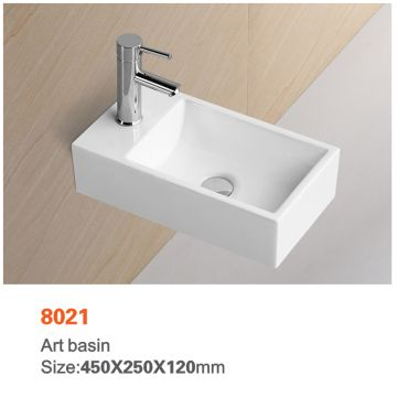 China New Model Design Wash Basin Small Size Ceramic Sin