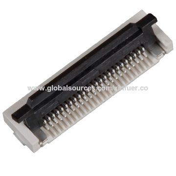 China 0.5mm flat ribbon connectors, Plastic height: 2.0mm, 04 to 80pin
