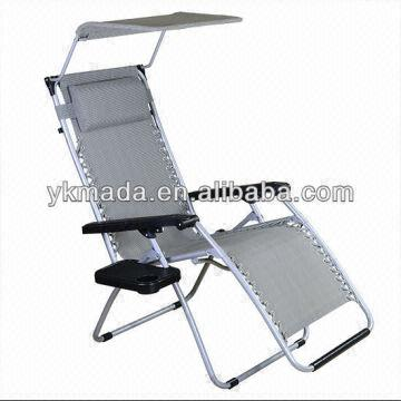 china new folding outdoor recliner lounge lounger chair sun bed for beach pool camp with headrest