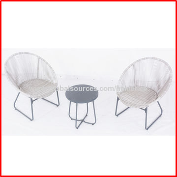 ... China Fashionable Leisure Outdoor Chair, Steel Frame With Plastic Rope  Acapulco Egg Chair Sets ...