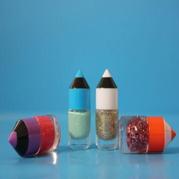 China 10ml 10g Transpa Unique Pencil Shaped Nail Polish Oil Gl Bottle