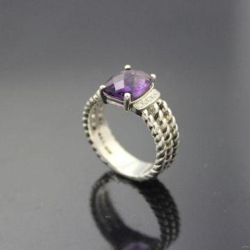cab8e91487a84 925 Sterling Silver David Yurman Jewelry 8x10mm Petite Wheaton ...