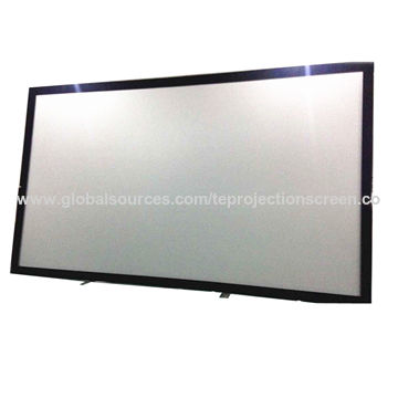 4:3/16:9/2.35:1 fixed frame projector screen with 4K acoustically ...