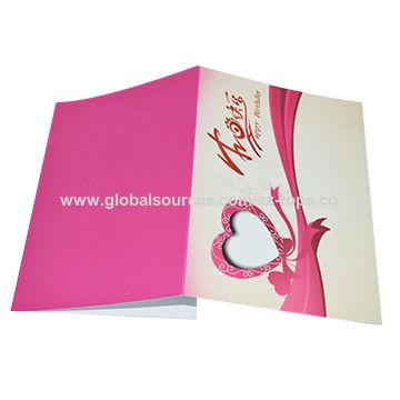 China new custom happy birthday song greeting card on global sources greeting card china greeting card m4hsunfo