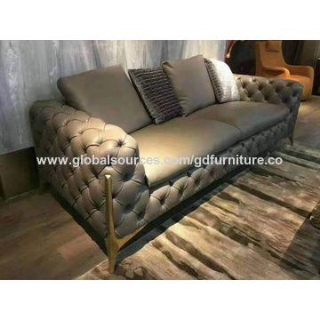China Luxury leather sofa set from Foshan Wholesaler: GD ...