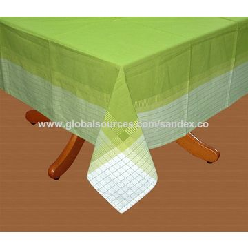 ... India Tablecloth Green, Made Of 100% Soft Cotton, Customized Design  Welcome / Accepted ...