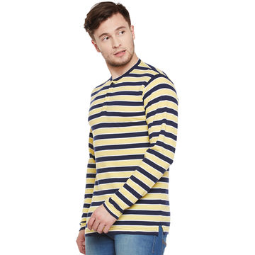... India Men's long-sleeved stripe T-shirt ...