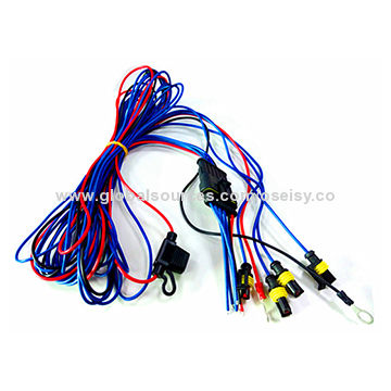 Car Radar Wire Harness With Connectors And Ring Terminals