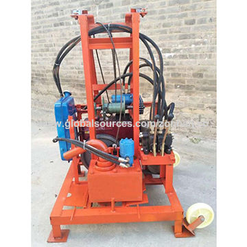 Gasoline engine hydraulic water well drilling rig machine