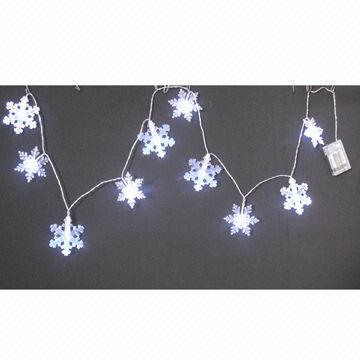 China 10ct Small Snowflake Light String With 2aa Batteries Operated