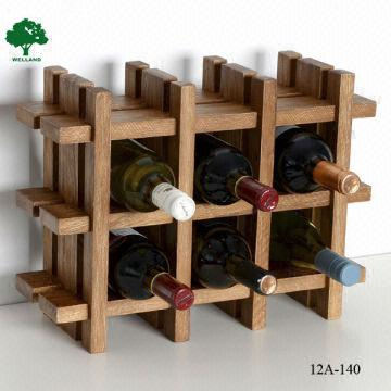 Wood Tabletop Wine Rack Stained J Global Sources