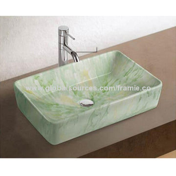 Color Ceramic Wash Basin In Latest Design With Quantities Export