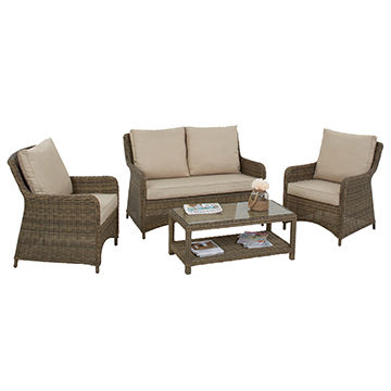 China 4 Pieces Round Wicker Patio Furniture Couch Sofa S