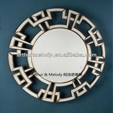 china antique gold frame round wall decorative mirror - Round Decorative Mirror