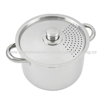 China Pasta Pot With Strainer And Safe Security Lid On Global Sources