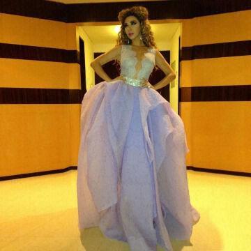 Latest Gown Designs Fashionable V Neck Crystal Ebay Evening Dresses ...