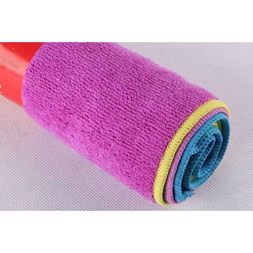 China 320gsm household cleaning cloths 4pk, super absorbent,32*32cm/piece,packing in sleeve card