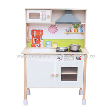 Wooden Kitchen Set Toys With Electronic Stove