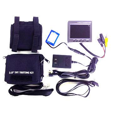 3.5-inch CCTV test monitor kit with AV1/AV2 input