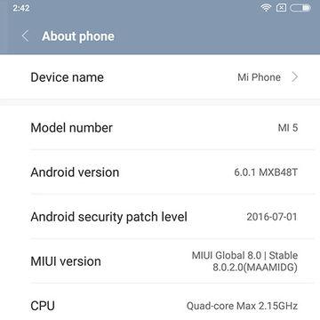 China Xiaomi MI5 32G Black Smartphone