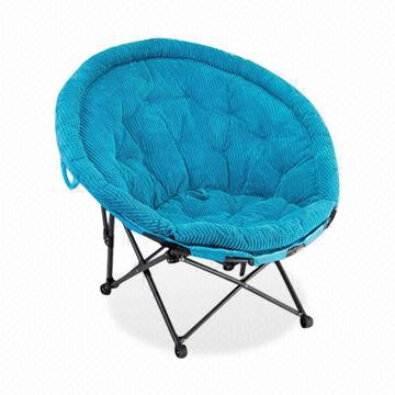 China Folding Moon Chair In Butterfly Shape, Made Of Wide Corduroy Fabric,  Measures 96