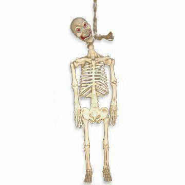 China Halloween Hanging Skeleton For Outdoor Or Party Decoration, Made Of  Latex And Foam