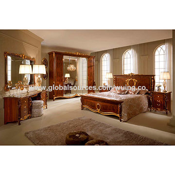 Factory Direct Sale Solid Wood 2017 New Bedroom Set Furniture