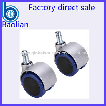 China Top-end BIFMA load 50mm blue PU rubber chair caster