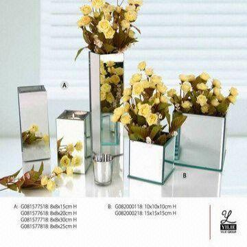 Mirrored Glass Vase Global Sources