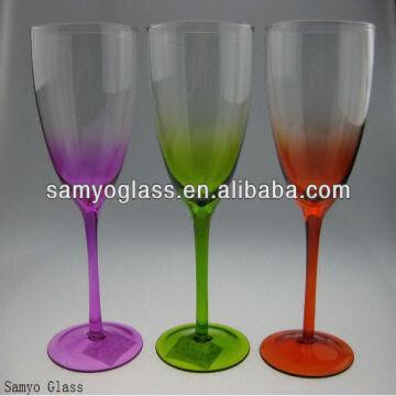 Colored Stem Wine Glasses Images