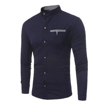 65f1cef9bc7c China Linen Cotton Blend Long Sleeve Business Men's Dress Shirts on ...