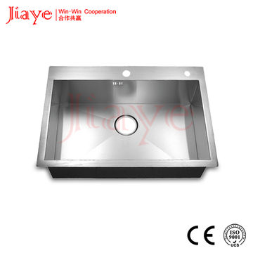 Commercial handmade kitchen sink factory price JY-7248L | Global Sources