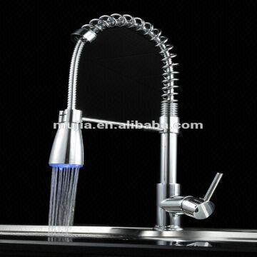 Contemporary Design Pull Down Single Hole Kitchen Sink Water Tap 1 ...